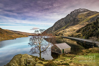 Photograph - Lake And Moon Snowdonia  by Adrian Evans