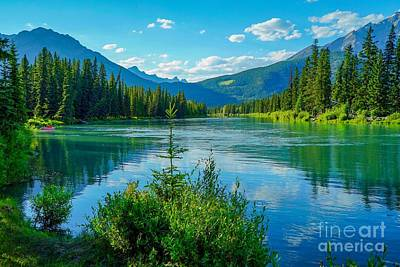 Photograph - Lake At Banff Indian Trading Post by Susan Rydberg