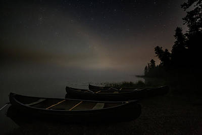 Photograph - Lake at Night in the Fog by Dixon Pictures