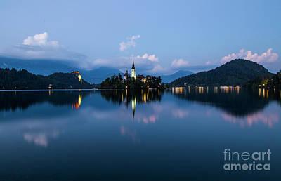 Wall Art - Photograph - Lake Bled At Dusk by Sebastien Coell