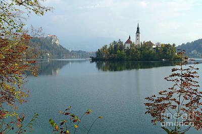 Photograph - Lake Bled - Autumn by Phil Banks