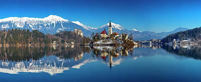 Digital Art - Lake Bled by Tanel Murd
