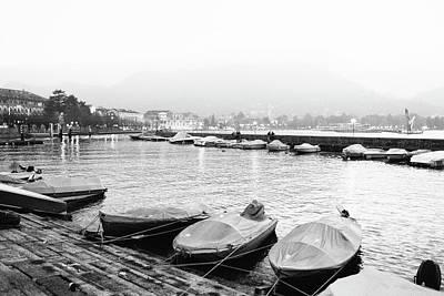 Photograph - Lake Como At Dusk by Bruno Maric