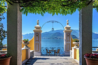 Photograph - Lake Como From Hotel Terrace by Carolyn Derstine