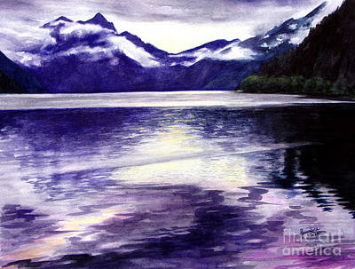 Painting - Lake Crescent by Jacqueline Tribble