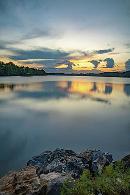 Ps I Love You - Lake Fayetteville Arkansas Reflections by Gregory Ballos