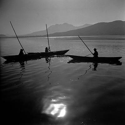 Photograph - Lake Fishermen by Three Lions