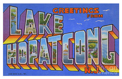 Photograph - Lake Hopatcong Greetings by Mark Miller