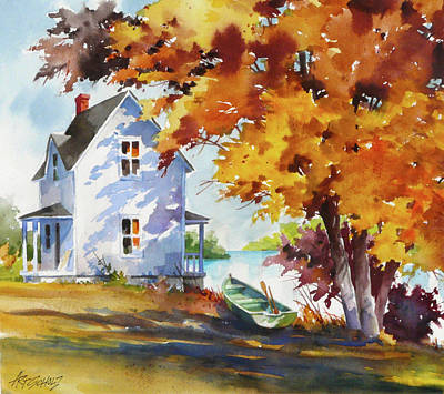 Painting - Lake House by Art Scholz