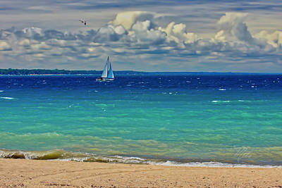 Lake Huron Sailboat Art Print