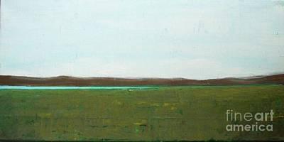 Wall Art - Painting - Lake In Prairie by Vesna Antic