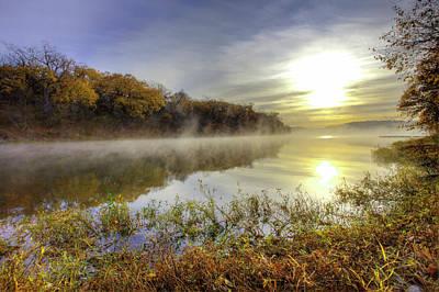 Autumn Photograph - Lake Jacomo, Fleming Park, Kansas City by Danita Delimont