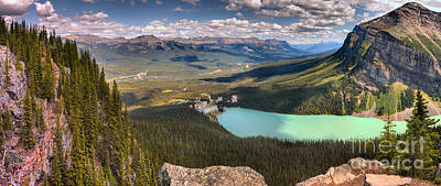 Photograph - Lake Louise Little Beehive Afternoon Panorama by Adam Jewell