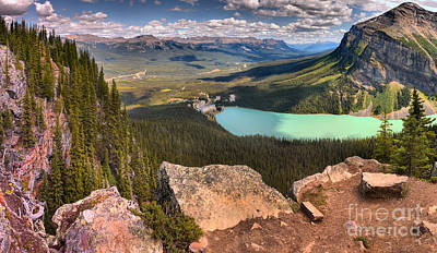 Photograph - Lake Louise Little Beehive Panorama by Adam Jewell