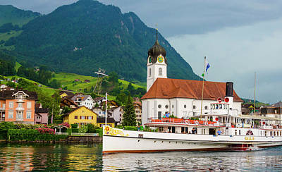 Lake Lucerne Steamer Art Print
