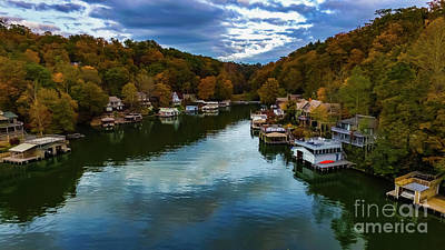 Photograph - Lake Lure Fall by Buddy Morrison