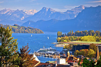 Pineapple - Lake Luzern and Alpine peaks view by Brch Photography