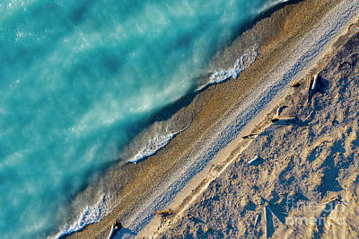 Royalty-Free and Rights-Managed Images - Lake Michigan and Point Betsie from Sky by Twenty Two North Photography