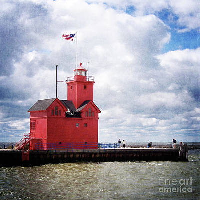 Lake Michigan Light House Art Print