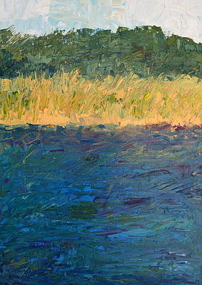 Painting - Lake Michigan Shoreline with Dunes and Grasses by Michelle Calkins