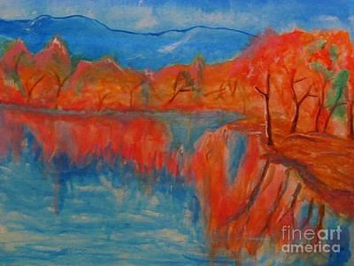 Painting - Lake Mirror by Stanley Morganstein