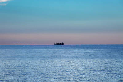 Photograph - Lake Ontario Frieghter by Jack R Perry