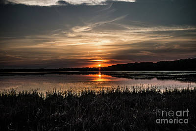 Lake Orrock Sunset Art Print