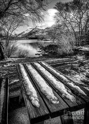 Photograph - Lake Padarn Bench  by Adrian Evans