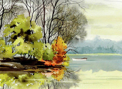 Painting - Lake Rest by Art Scholz