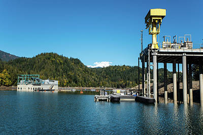 Photograph - Lake Shannon Hydro Equipment by Tom Cochran