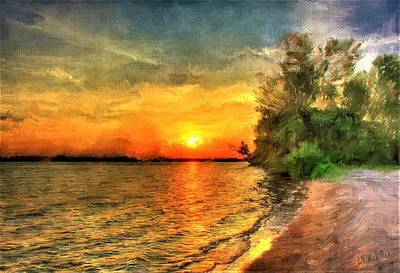 Painting - Lake Sunset by Diane Chandler