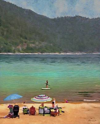 Painting - Lake Tahoe Family Day by Jeffrey Kolker