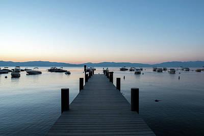 Photograph - Lake Tahoe Pier Sunrise by Doug Ash