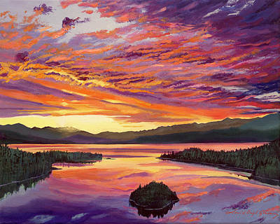 Painting - Lake Tahoe Sky by David Lloyd Glover