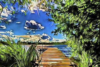 Painting - Lake Vacation A18-72 by Ray Shrewsberry