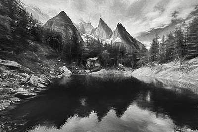 Digital Art - Lake Verde In The Alps IIi by Jon Glaser