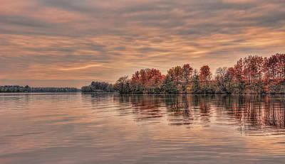 Photograph - Lake Wausau Fall Shoreline by Dale Kauzlaric