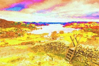 Mixed Media Royalty Free Images - Lake Windermere Royalty-Free Image by David Ridley