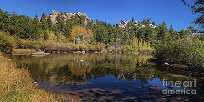 Photograph - Lakes Of Red Feather Panoramic View by James BO Insogna