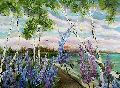 Painting - Lakeside Lupin by Sandra Day
