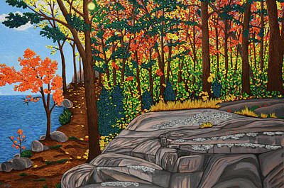 Painting - Lakeside Trail by Michelle Vyn
