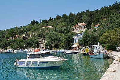 Lovely Lavender - Lakka harbour on Paxos island by David Fowler