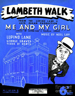Drawing - Lambeth Walk, Score Cover, 1937 by English School
