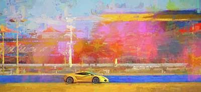 Photograph - Lambo Yellow by Alice Gipson