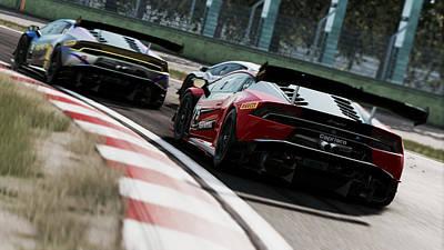 Photograph - Lamborghini Blancpain Super Trofeo - 03 by Andrea Mazzocchetti