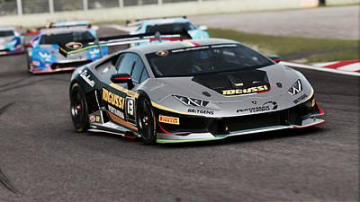 Photograph - Lamborghini Blancpain Super Trofeo - 06 by Andrea Mazzocchetti