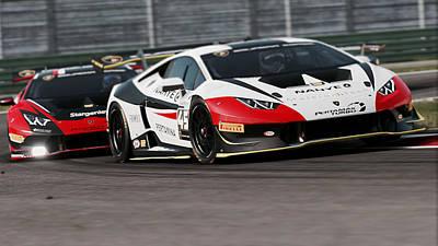 Photograph - Lamborghini Blancpain Super Trofeo - 08 by Andrea Mazzocchetti