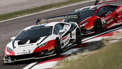 Photograph - Lamborghini Blancpain Super Trofeo - 09 by Andrea Mazzocchetti