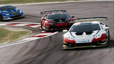 Photograph - Lamborghini Blancpain Super Trofeo - 10 by Andrea Mazzocchetti