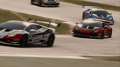 Photograph - Lamborghini Blancpain Super Trofeo - 11 by Andrea Mazzocchetti